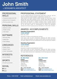 professional resume template   trendy resumesblue