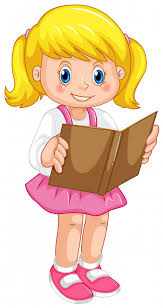 <b>A girl reading book</b> Vector | Free Download