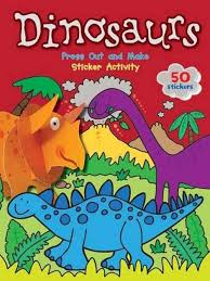 <b>Dinosaurs</b> Press Out and Make <b>Sticker</b> Activity 190