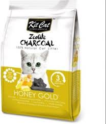 <b>KIT CAT ZEOLITE</b> CHARCOAL HONEY GOLD CAT LITTER 4 KG ...