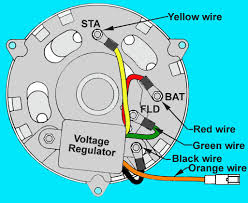 alternator conversion schematic the small black wire from the generator is a ground wire to body of vehicle