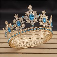 Luxury Royal King Wedding <b>Crown</b> Bride tiaras and <b>Crowns</b> Queen ...
