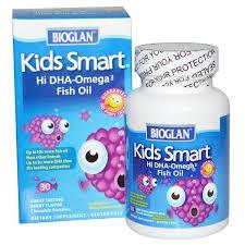 Bioglan, <b>Kids Smart</b>, <b>Hi</b> DHA-Omega 3 Fish Oil, Berry Flavor, 30 ...