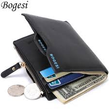 Short Male Card Holder Designer <b>Small PU Leather</b> Men Wallet ...