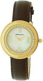 Женские <b>часы Romanson</b> Lady Jewelry <b>RL0385TLG</b>(<b>WH</b>)