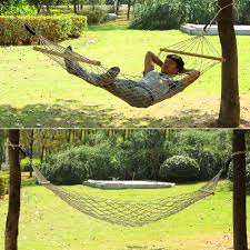 patio kits travel font travel kit wooden cotton rope strong hammock patio garden outdoor seat