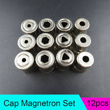 mexi 5pcs set diameter 13mm steel cap microwave oven replacement round hole magnetron silver tone