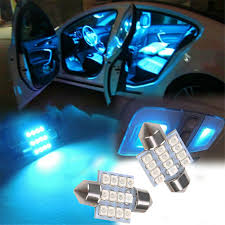 12 volt bulbs <b>13x Blue</b> LED Lights Interior Package Kit For Dome ...