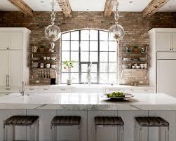brick backsplash sleek saveemail baae  w h b p transitional kitchen