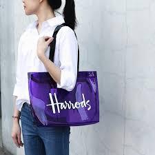 Harrods-<b>transparent jelly bag</b> beach/<b>summer</b>/PVC/large capacity ...