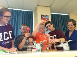 ucc science students partner grade our lady of fatima for the past several weeks grade 11 chemistry students at ursuline college have been engaged in a collaborative learning project grade 7 students from