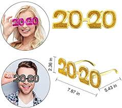 5 Pieces 2020 New Year Party Eyeglasses Happy ... - Amazon.com