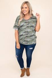 Can You See Me Top, <b>Camo Gray</b> – Chic Soul