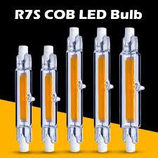 <b>R7S COB LED Lamp Bulb</b> Glass Tube for Replace Halogen <b>Light</b> ...