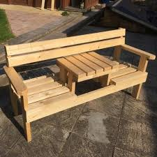<b>2 Seater Garden Bench With</b> Small Table In Middle… #Smallg…