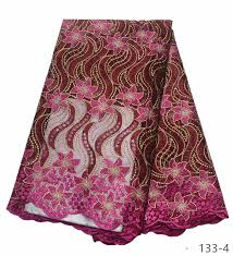 <b>Hot Sale French</b> Lace Fabric Pure White Nigeria Lace Fabric High ...