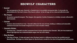 beowulf themes the importance of establishing identity the 3 beowulf characters