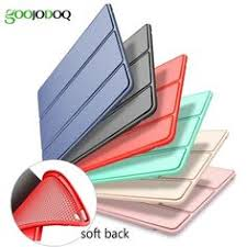 Ultra Slim <b>Tri</b>-<b>Fold</b> Smart Cover Stand with Flexible <b>Soft Silicone</b> ...
