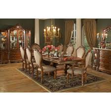 Formal Dining Room Sets With China Cabinet Aico Michael Amini 8pc Cortina Rectangular Dining Room Table Set