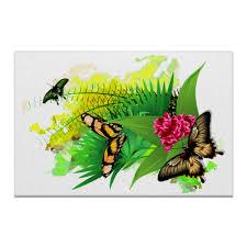 <b>Холст 50</b>×75 Бабочки в цветах. #3058242 от Zorgo-<b>Art</b>
