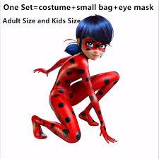<b>Hot Sale</b> Adult <b>Ladybug Costume</b> with Wig Bag Children Girls Lady ...