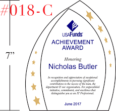 professional achievement award wording sample by crystal central it