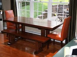 orange leather dining room