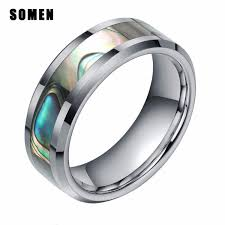 2019 Ashion Jewelry Rings <b>Somen Ring Men 8mm</b> Tungsten Ring ...