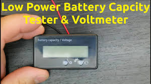 Low <b>Power Battery Capacity</b> Tester & Voltmeter - YouTube