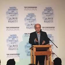 this week in book launches somethingreads on tuesday night i made the trek to powerhouse arena for salman rushdie s book launch for two years eight months and twenty eight nights