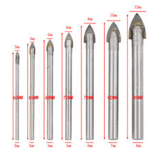 Super Sale #ybsec - 7Pcs 3-12mm Glass Drill Bit Set Tungsten ...