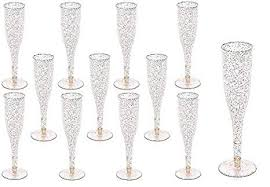 60 pc <b>Gold</b> Glitter Classicware Glass Like <b>Champagne</b> Wedding