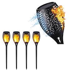<b>Solar Flame</b> Lamp Flickering IP65 Waterproof <b>LED</b> Garden ...