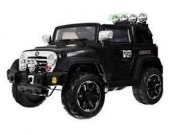Радиоуправляемый <b>детский электромобиль</b> Beach Jeep Черный ...