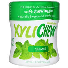 Xylichew Gum, Sweetened with Birch Xylitol, <b>Spearmint</b>, <b>60 Pieces</b> ...