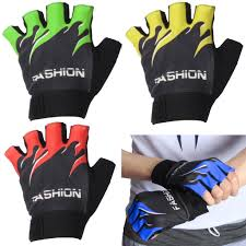 <b>1 Pair</b> Half Finger <b>Cycling Gloves</b> Anti-Slip Gel Bicycle Riding ...