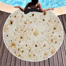 SOFTBATFY Burrito Tortilla <b>Beach</b> Towel B- Buy Online in Dominica ...
