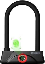 BILLCONCH <b>Fingerprint Bike</b> U Lock,<b>Waterproof Bike</b> U-Lock Gate ...