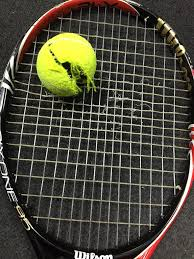 who has popped a tennis ball talk tennis not a bad racket for 35 all in