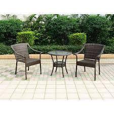 crossman piece outdoor bistro: wicker  piece patio bistro set patio furniture
