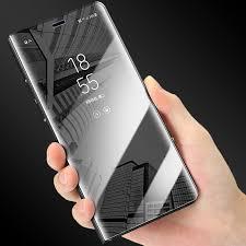 Mirror View <b>Smart Flip Case For</b> Samsung Galaxy A20E A10E A20 ...