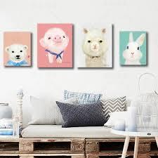 <b>5pcs Lot</b> Cartoon Animal Oil Painting Penguin Rabbit <b>Polar Bear</b> ...