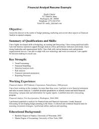 financial analyst resume sample statistical analysis tools financial analyst