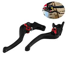 <b>Motorcycle</b> Front Brake Lever & Clutch Lever Adjustable <b>1</b> Pair 7/8 ...