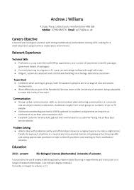 resume examples qualification in resume sample sample of resume qualification resume template example career objective as laboratory worker and relevant skills experience in technical