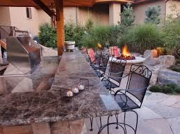 patio outdoor stone kitchen bar: outdoor kitchen bar ideas dp wrona outdoor kitchen firepit sxjpgrendhgtvcom