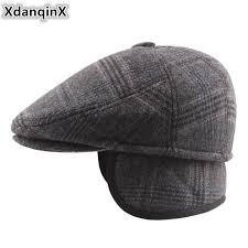 <b>XdanqinX</b> Winter Men's <b>Hats</b> Plus Velvet Cotton Thick Beret With ...