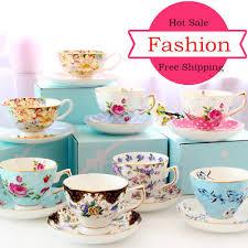 Porcelain <b>Fashion British</b> Bone China <b>Coffee</b> Cup Saucer <b>Ceramic</b> ...