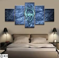 <b>Home Decor Modular Canvas</b> Picture 5 Piece Elder Scrolls V Skyrim ...