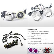 kt bi xenon projector kit headlight suitable for triumph daytona kt bi xenon projector kit headlight suitable for triumph daytona 675 675r 2013 2014 2015 2016 angel halos demon eyes red lamp in headlights from automobiles